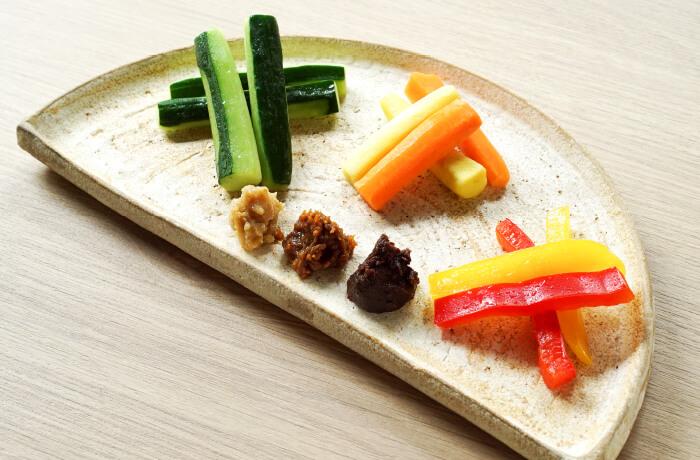 5種の味噌食べ比べ