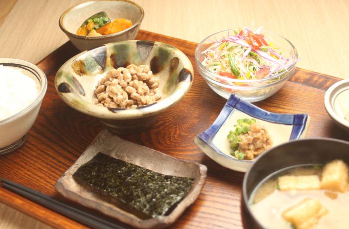 肉味噌納豆定食